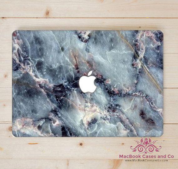 Marble MacBook Case.  Blues. Hard Plastic by MacBookCasesandCo