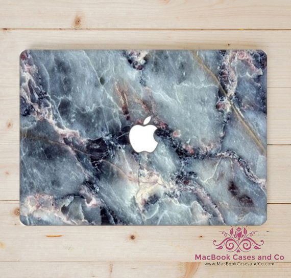Marble MacBook Case.  Blues. Hard Plastic by MacBookCasesandCo
