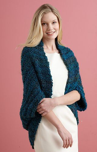 Simple Crochet Shrug #L20507 (Homespun Thick and Quick)