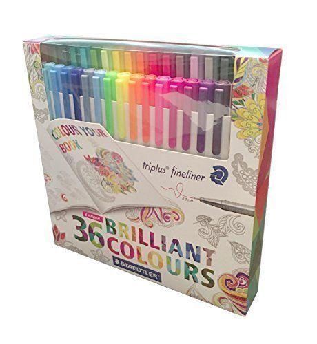 Staedtler Color Pen Set, Set of 36 Assorted Colors - Triplus Fineliner Pens (Brand New Package) Staedtler http://www.amazon.com/dp/B016UPJ7FW/ref=cm_sw_r_pi_dp_SXlrwb0T314Q9
