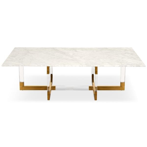 Trousdale 2 Coffee Table With Carrera Marble Top