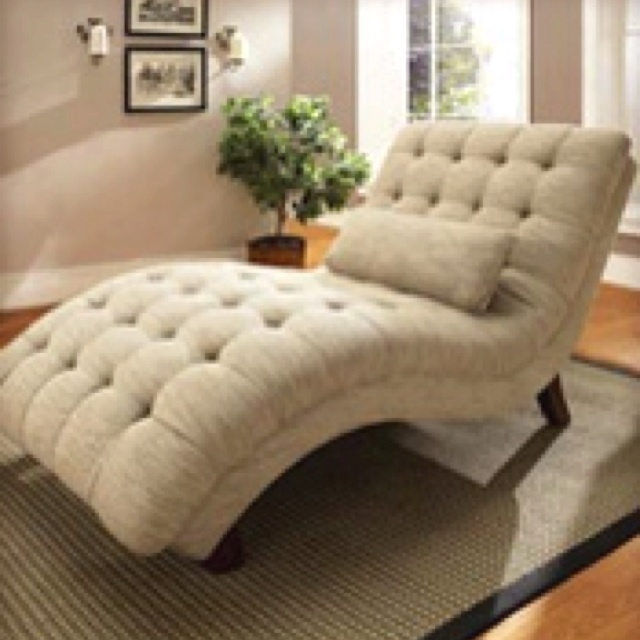 avril fabric chaise lounge furniture reading chair taupe new