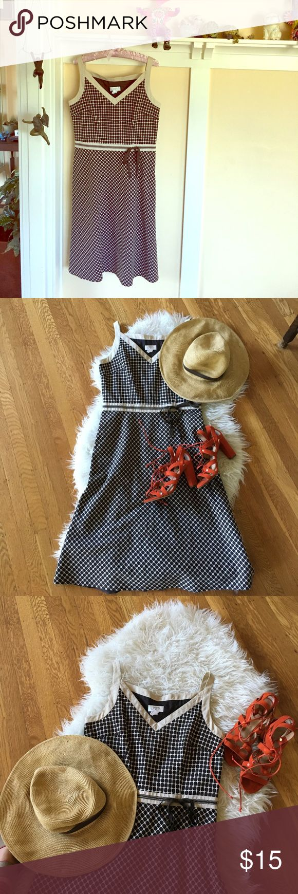 Anne Taylor Loft Sun Dress, like new!  Size 8 Anne Taylor Loft Sun Dress- like new!  Can wear with a sweater or summer Blazer for office or pair with chunky sandals for fun summer afternoon soirée.  Gorgeous little details make a special touch . anne taylor loft Dresses Midi