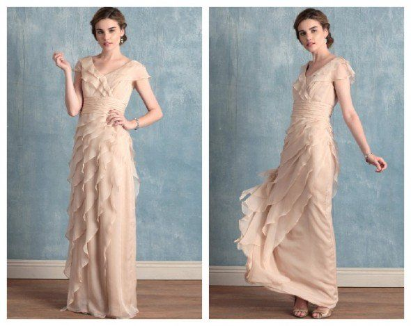Vintage Wedding Gowns On A Budget; if the dress was right and only had the right ruffled sleeve and strapless on the left..amazing!