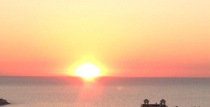 Sun setting in #Kusadasi  #Turkey