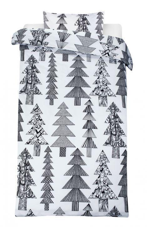 Kuusikossa duvet cover set (white, black) | Décor, Bedroom, Duvet covers | Marimekko