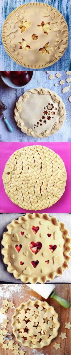 Ажурные идеи для украшения пирогов