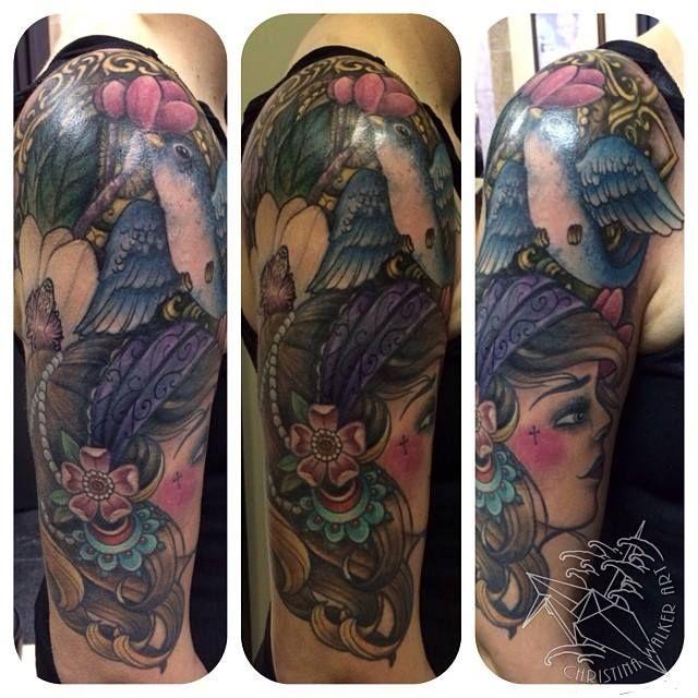 Gypsy half sleeve tattoo | Tattoos By Christina Walker ...