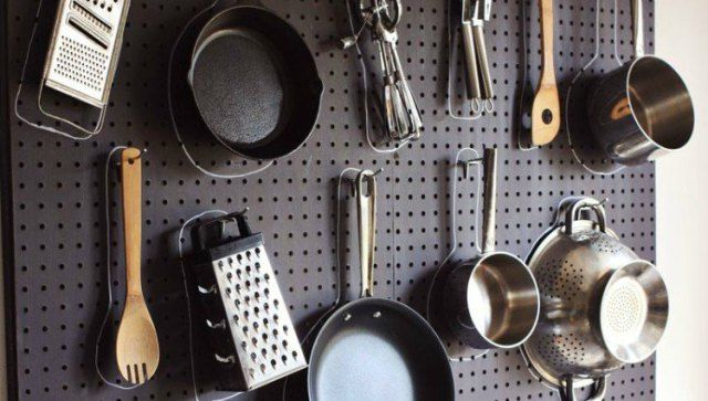 cooking ware pegboard
