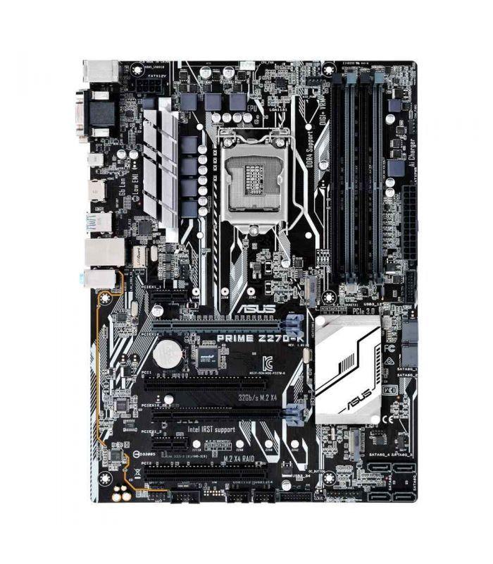 سوکت Lga1151 چیپ ست Intel Z270 نوع حافظه Ddr4 حداکثر حافظه رم قابل پشتیبانی 64gb Asus Motherboard Lga