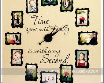 FAMILY PHOTO Wall Clock Kit holds 4x6 by DelicateExpressions
