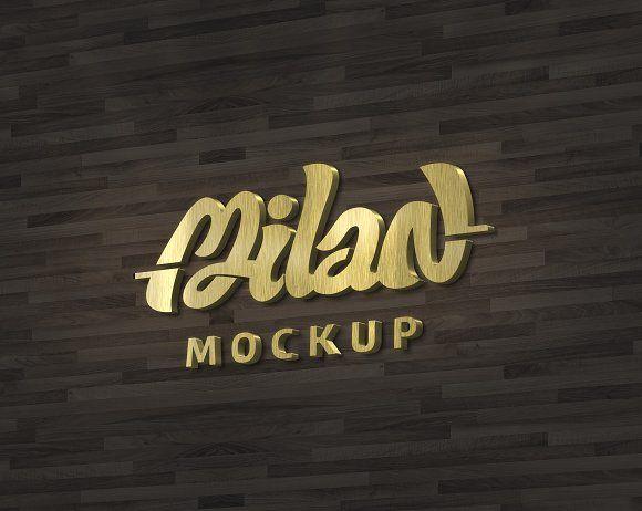 Lettering 3d Mockup Gold Design Mockup Free Free Psd Mockups Templates Mockup Template Free