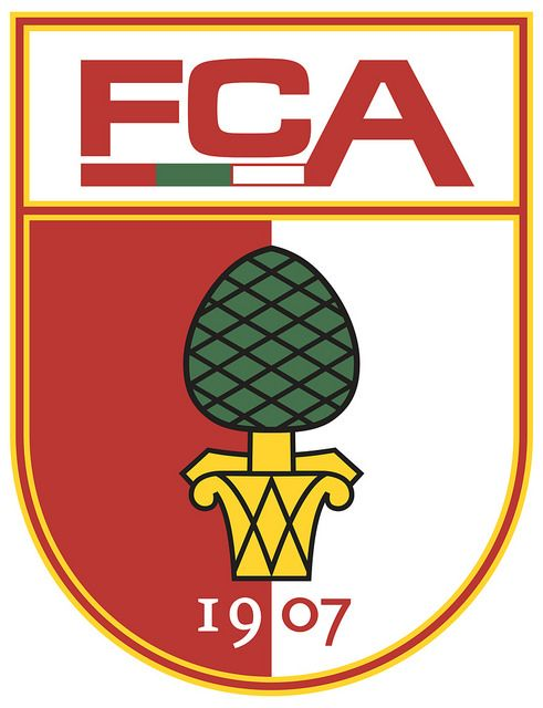 FC Augsburg (Fußball-Club Augsburg 1907 e. V.) | Country: Germany / Deutschland. País: Alemania. | Founded/Fundado: 1907/08/08. Badge / Crest / Escudo.