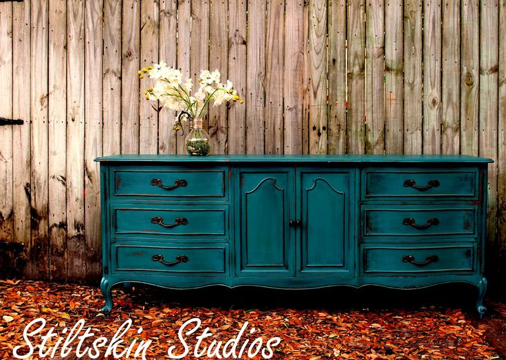 blue dressers   Peacock Blue Dresser