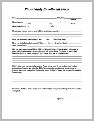 17 best Assignment Sheets and Studio Documents images on Pinterest - enrollment form format