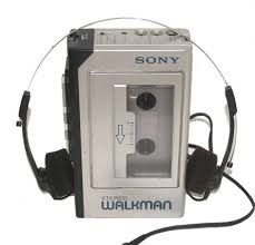 Walkman - the hottest way to get around the city. Remember when this was considered small???