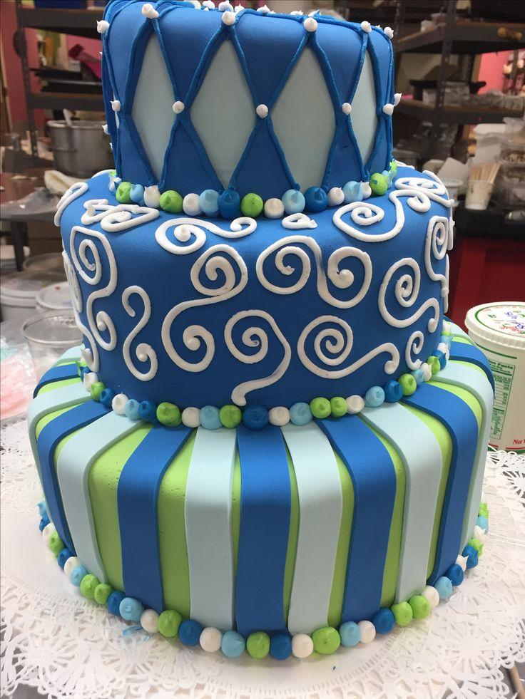 Fun fondant birthday cake
