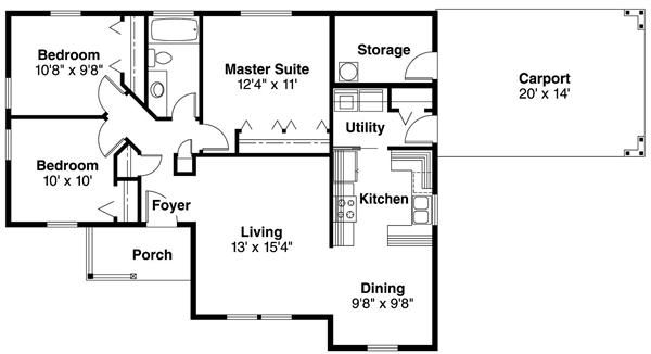 Floor plan first story 1000 square feet homes for 1000 sq ft house plans first floor