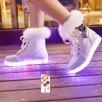 Tenis Bota Led Luminoso Luces Colores Navidad Unisex Env Dhl