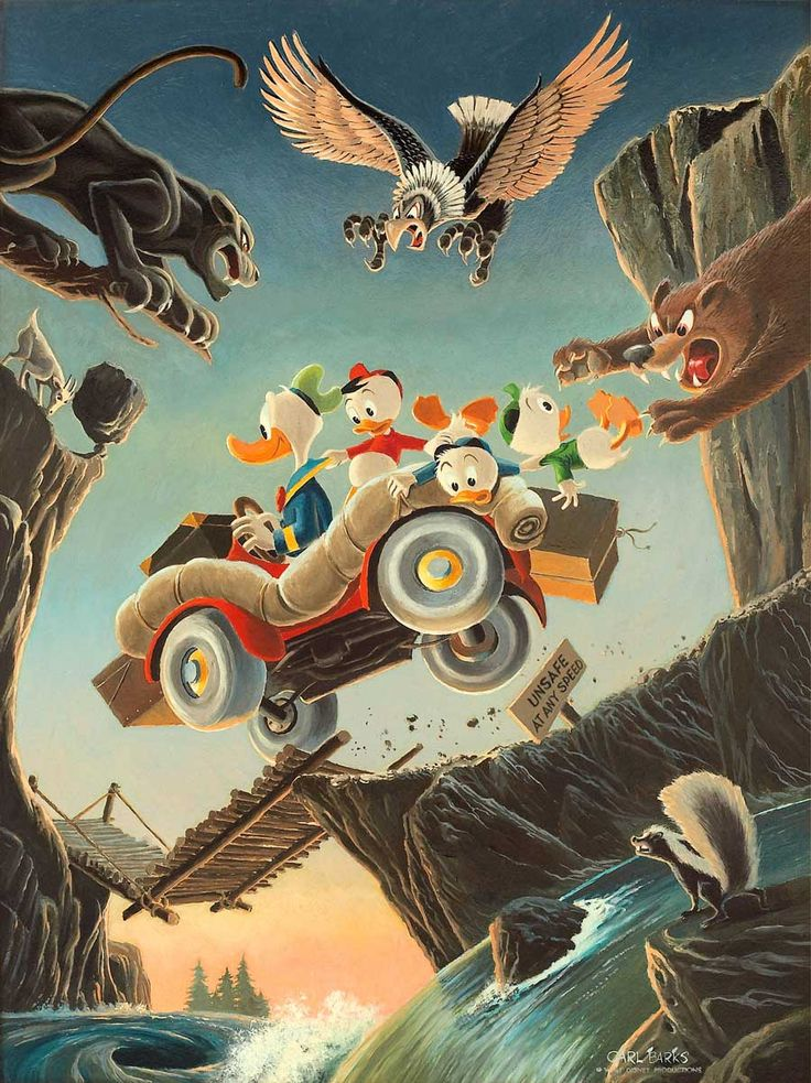 Donald Duck - Leaving Their Cares Behind by Carl Barks