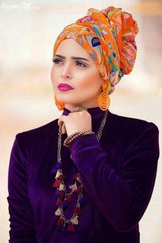 bohemian hijab style turban, Bohemian hijab style looks http://www.justtrendygirls.com/bohemian-hijab-style-looks/                                                                                                                                                      More