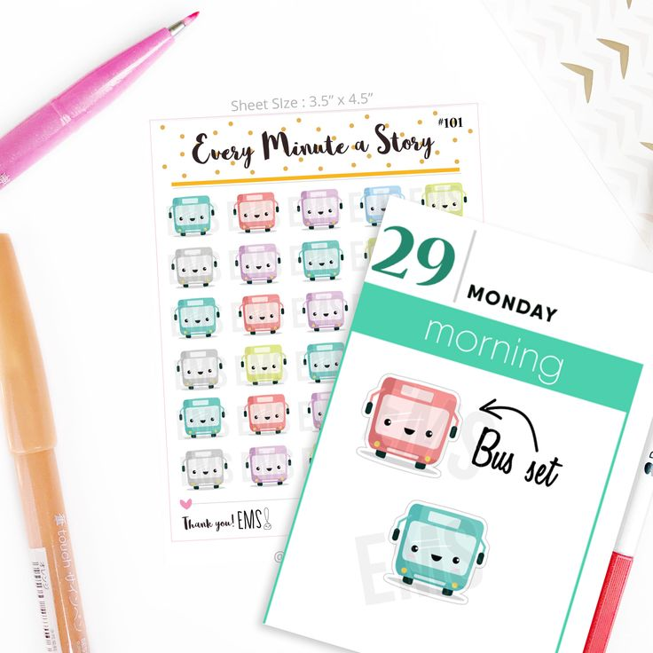 bus planner stickers, transport commute stickers, erin condren, happy planner, mambi, school kit, college, teacher, academic planner S101 by EveryMinuteAStory on Etsy