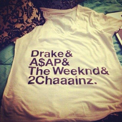 drake, asap , the weeknd, 2chainz - baller ass shirt