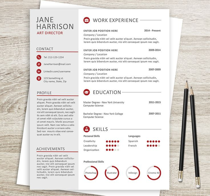 60 best Creative and professional Resume Templates images on - picture templates for word