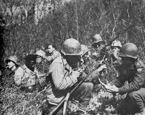 FEB patrol in the region between Montese and Fanano before the final attack.