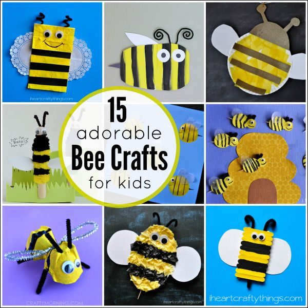 I HEART CRAFTY THINGS: 15 Adorable Bee Crafts for Kids