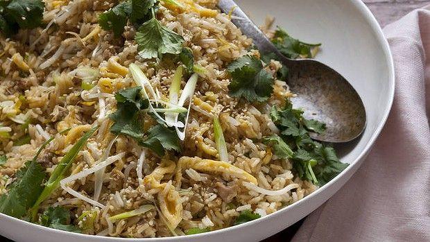 Chicken ginger egg fried rice.