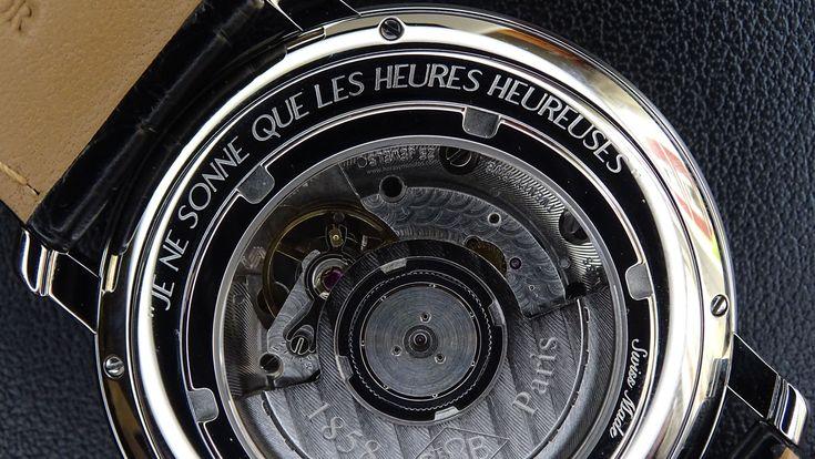 #Boucheron Epure Acier 42 mm inscripción calibre