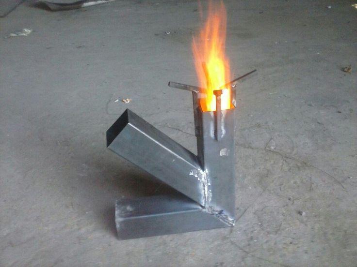 25 b sta id erna om rocket stoves p pinterest for Rocket fire heater