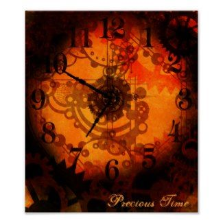 Steampunk Styling  #Steampunk Clock Posters Steampunk Costumes - accessories - Stationery http://steampunkstyling.com/blog/steampunk-clock-posters/
