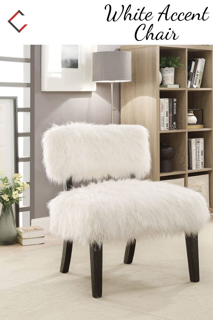 Furniture Of America Pardeep White Accent Chair White Accent Chair Furniture Contemporary Accent Chair #unique #accent #chairs #for #living #room