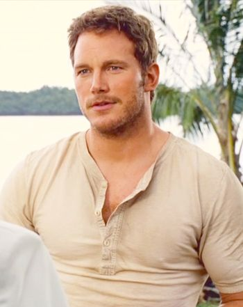 Chris Pratt as Owen Grady Jurassic hunk.