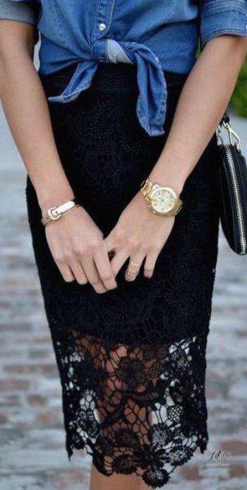 Соблазнительные юбки с кружевом