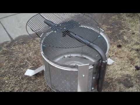fire pit from a tumble dryer drum bbq | Кемпинг, Идеи ...