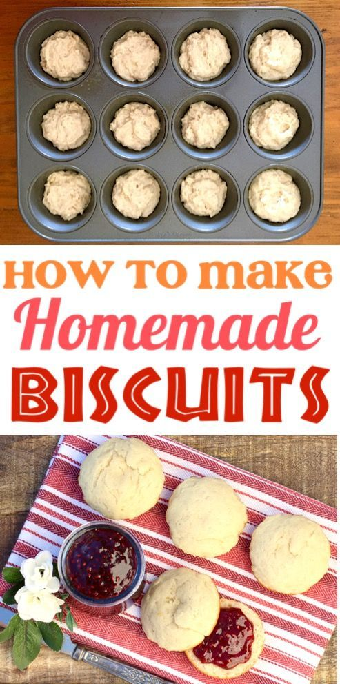 Homemade Biscuits Recipe This Easy Biscuit Without Buttermilk Is So Quick And Simple To Make In Your Muffi Easy Biscuit Recipe Homemade Biscuits Biscuits Easy