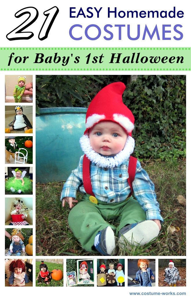 21 Easy DIY Halloween Costumes for Baby's First Halloween-- BAHA! Oh @Kylee Foote Foote Foote Foote King these are great! Can Bode please be a Gnome?!