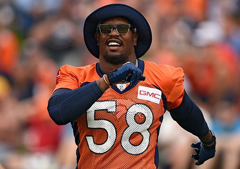 Denver Broncos outside linebacker Von Miller takes the day off from practice on Day 4 of