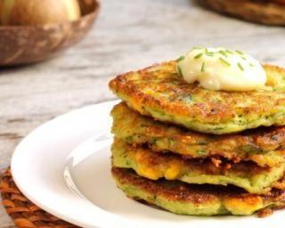 Pancakes salés au maïs et herbes…