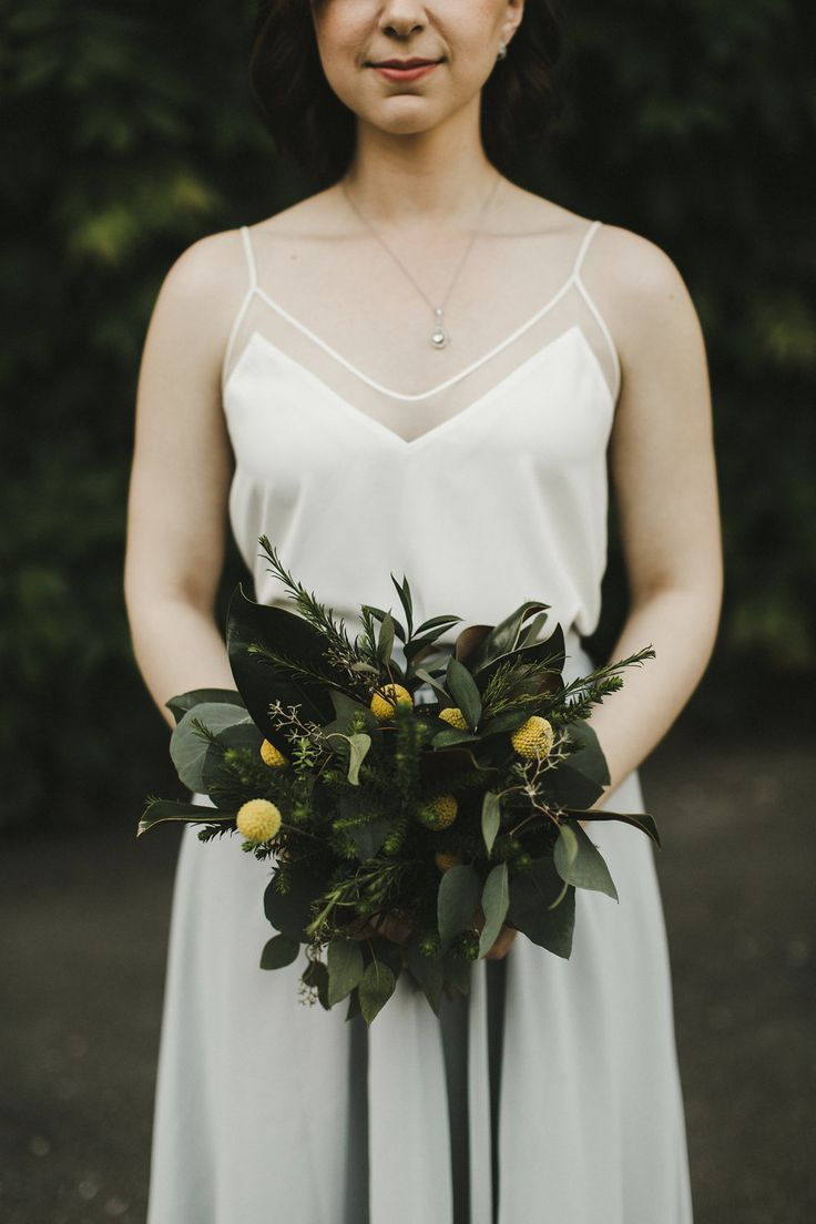 A Vancouver simple bride's maid bouquet by Floral Design by Lili