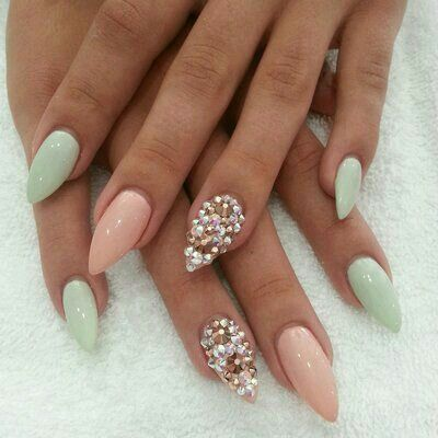 Love the soft colors together | nails | Pinterest | Colors ...