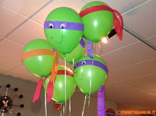 I palloncini delle Tartarughe Ninja