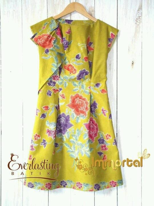 Yellow batik dress