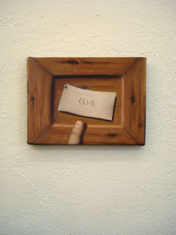 Juan Reos - Escrito - Óleo sobre tela - 13x18cm - 2013
