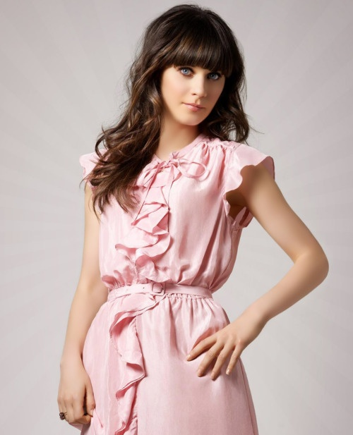 Zooey Deschanel - I love her blunt bangs. I tried it on a lesser scale once but I want to try to do it full-on someday...
