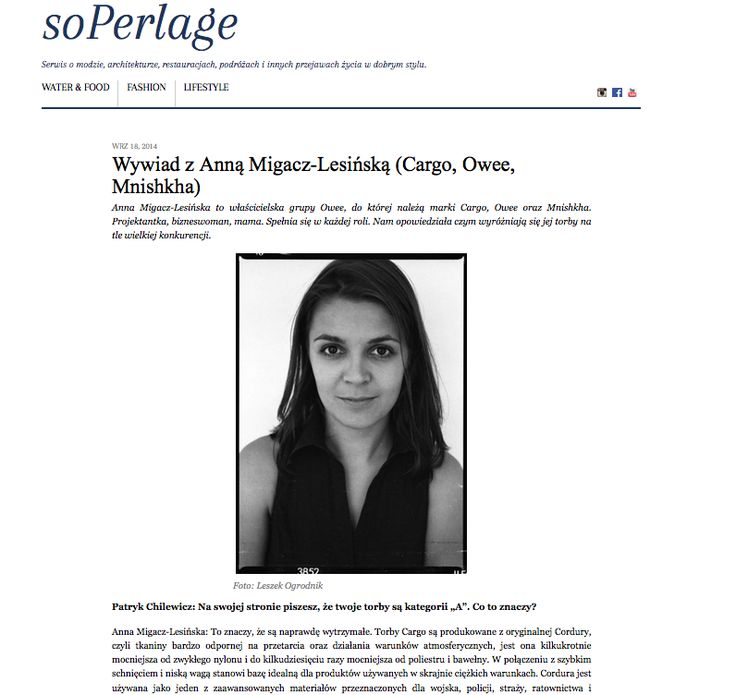 about CARGO http://soperlage.com/wywiad-anna-migacz-lesinska-cargo-owee-mnishkha/