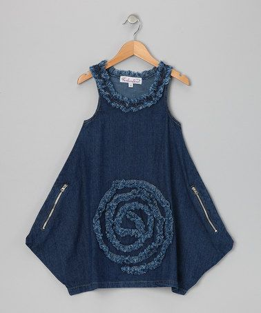 Love this Blue Wash Denim Yana Dress - Toddler & Girls by KidCuteTure on #zulily! #zulilyfinds
